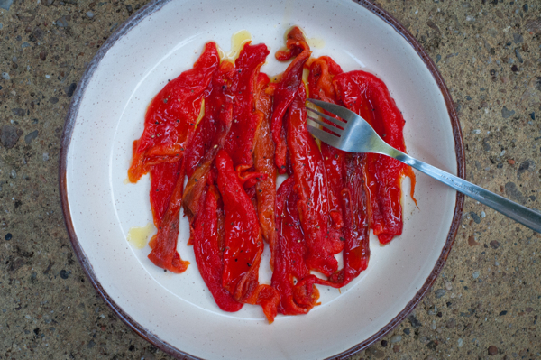 Roasted peppers from Around my French Table on eatlivetravelwrite.com
