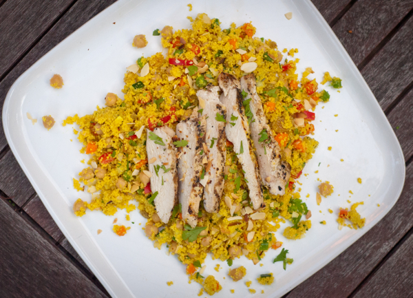 Lemon chicken with Couscous Salad from Around my French Table on eatlivetravelwrite.com