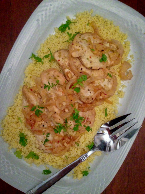 Jacques Pepin chicken, African style with couscous on eatlivetravelwrite.com