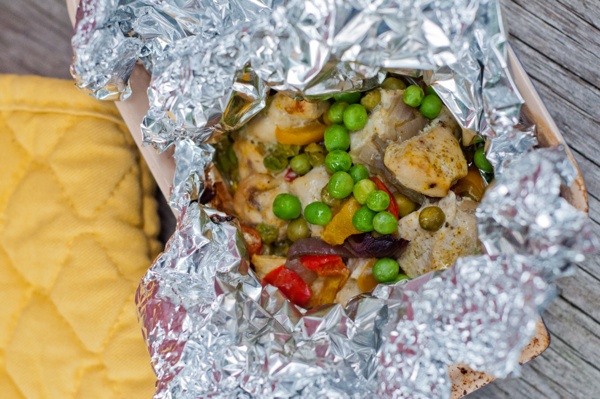 Curried Chicken, Peppers and Peas en Papillote on eatlivetravelwrite.com