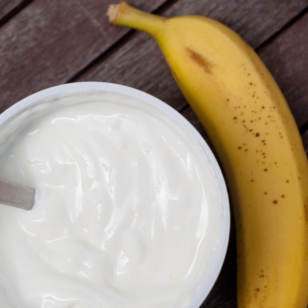 Yoghurt and a banana on eatlivetravelwrite.com