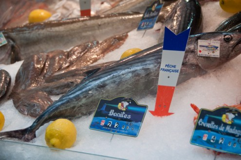 Fish in a Paris market on eatlivetravelwrite.com