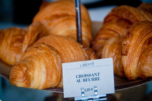 Croissant at Liberte Bakery in Paris on eatlivetravelwrite.com