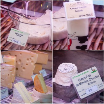 Dairy products at Marche St Martin on Localers tour on eatlivetravelwrite.com