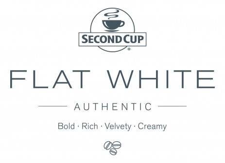 Second Cup Flat White logo on eatlivetravelwrite.com
