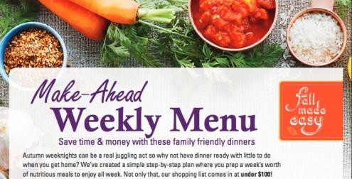 MakeAheadWeeklyMenuFallMadeEasy on eatlivetravelwrite.com