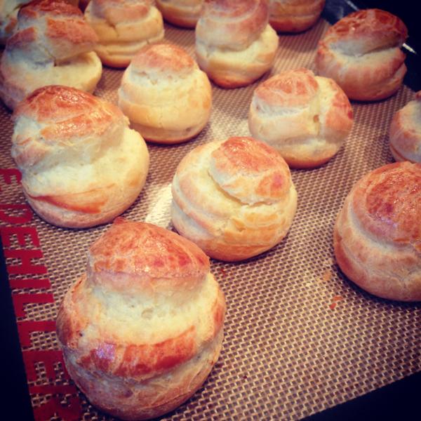 Messy Baker choux puffs on eatlivetravelwrite.com