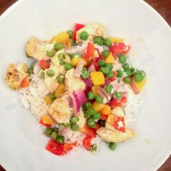 Dorie Greenspan Curried Chicken, Peppers and Peas en Papillote on eatlivetravelwrite.com