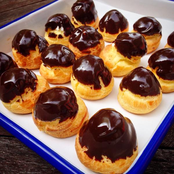 Messy Baker Profiteroles on eatlivetravelwrite.com