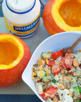 Vegetable stuffing for red kuri squash on eatlivetravelwrite.com
