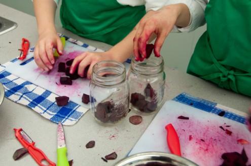 Kids pickling beets on eatlivetravelwrite.com