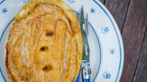 Creamy chicken and vegetable pot pie on eatlivetravelwrite.com