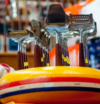 Cheese slicers at Cheese Boutique on eatlivetravelwrite.com
