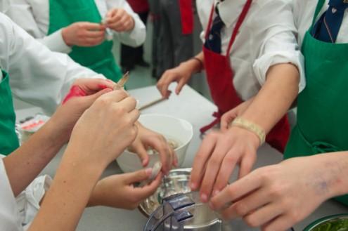 Kids peeling shrimp on eatlivetravelwrite.com