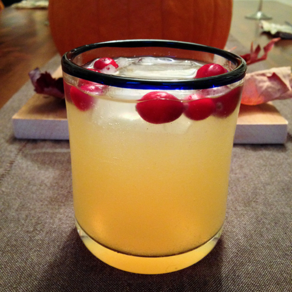 Apple cider, cranberry and ginger punch on eatlivetravelwrite.com