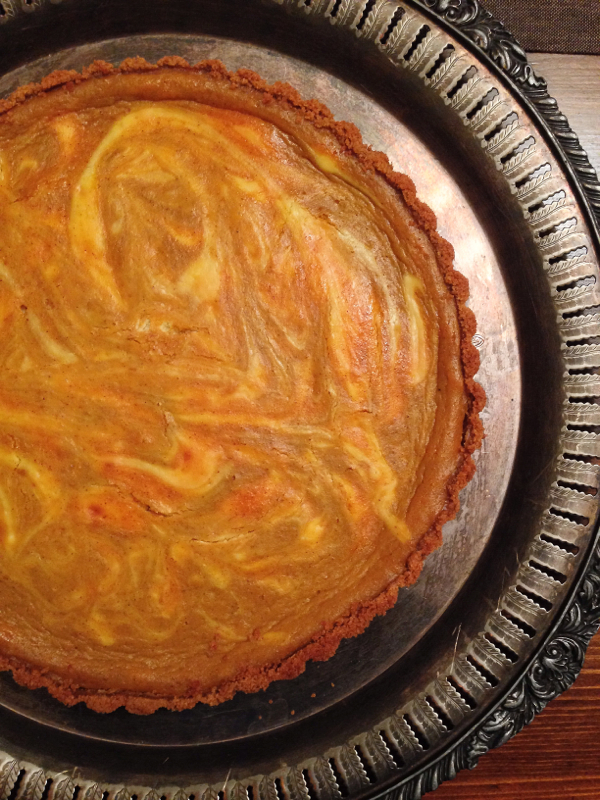 Marbled pumpkin ginger snap tart from Smitten Kitchen on eatlivetravelwrite.com