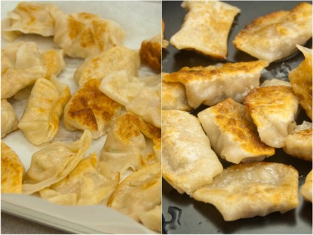 Kids make chicken and shrimp potstickers on eatlivetravelwrite.com