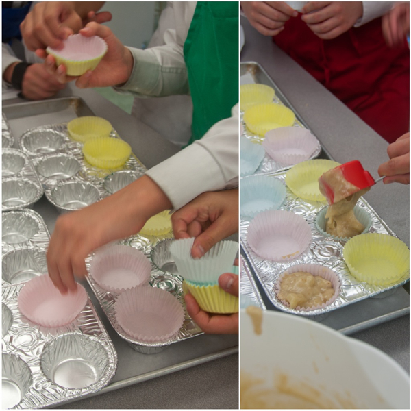 Kids making Jamie Oliver Hummingbird Cupcakes on eatlivetravelwrite.com