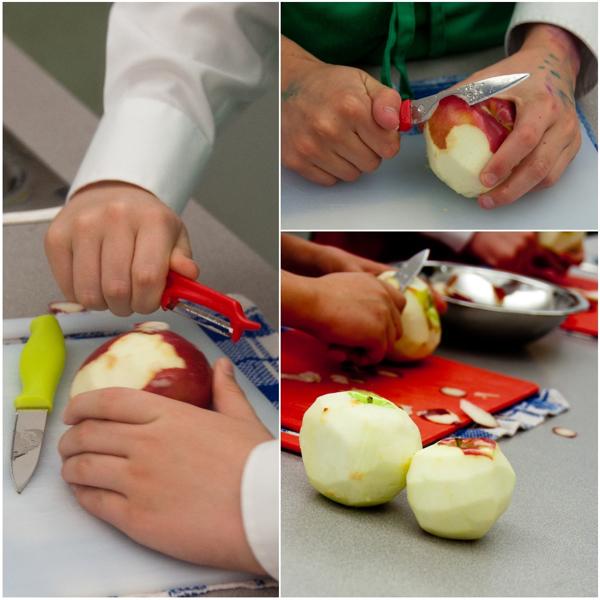 Kids peeling apples on eatlivetravelwrite.com