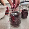 Kids working with beets on eatlivetravelwrite.com