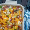 Cheesy potato bake on eatlivetravelwrite.com