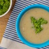 Jerusalem artichoke soup wtih walnut pesto on eatlivetravelwrite.com