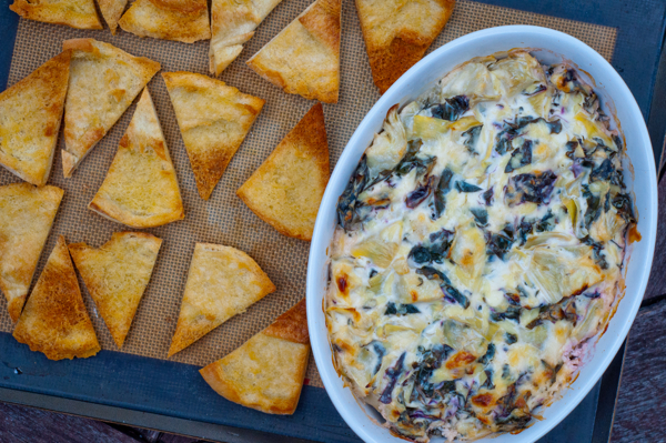 Cheesy kale-artichoke dip for the #52NewFoods Challenge by Mardi Michels on eatlivetravelwrite.com
