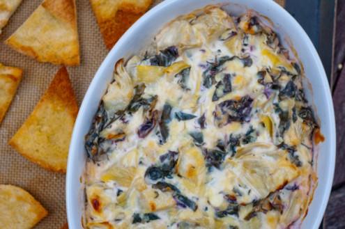 Cheesy kale-artichoke dip for the #52NewFoods Challenge on eatlivetravelwrite.com