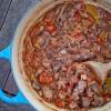 Beef shank and tomato pasta sauce on eatlivetravelwrite.com