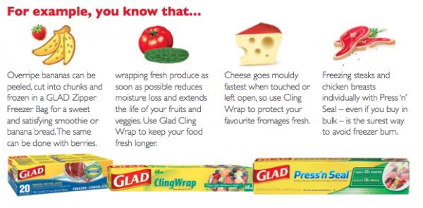 GLAD facts about food storage on eatlivetravelwrite.com