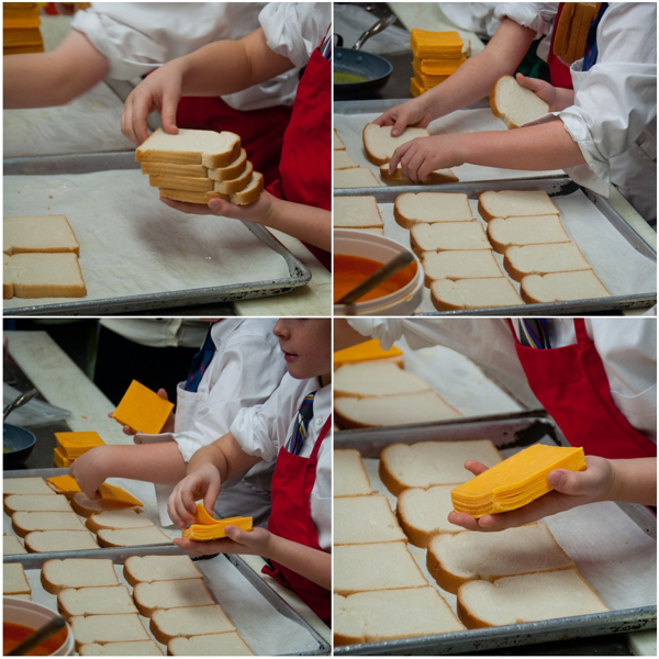 Kids making grilled cheese on eatlivetravelwrite.com