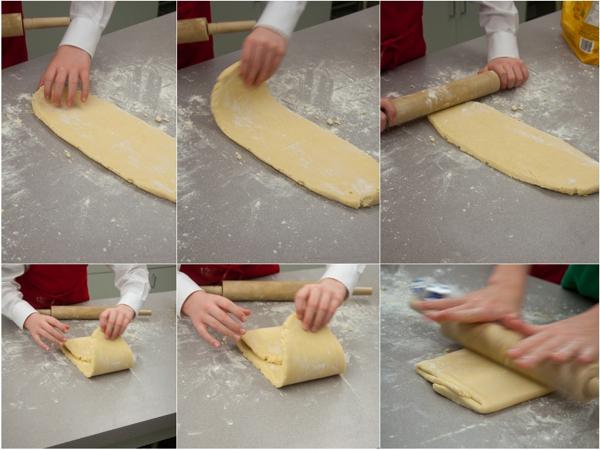 Kids making rough puff pastry on eatlivetravelwrite.com