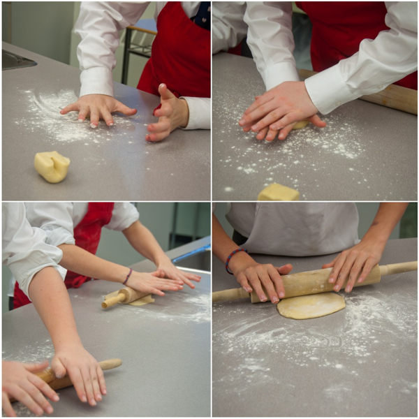 Kids rolling rough puff pastry on eatlivetravelwrite.com