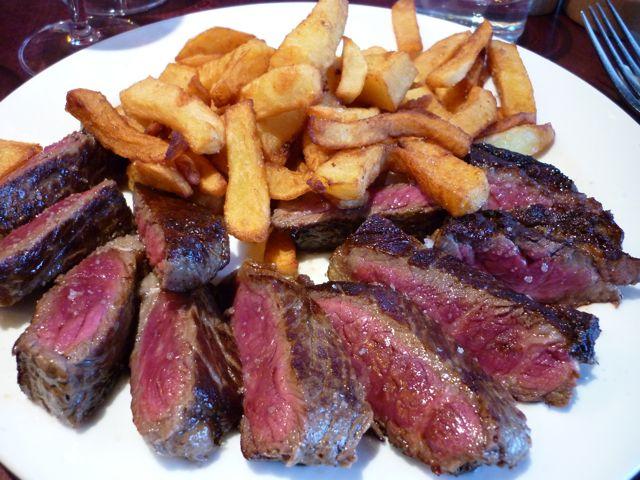 Steak frites in Paris on eatlivetravelwrite.com