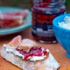 Bruschetta with goat cheese prosciutto and fig spread on eatlivetravelwrite.com