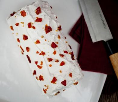 Dorie Greenspan gingerbread bûche de Noël from Baking Chez Moi on eatlivetravelwrite.com