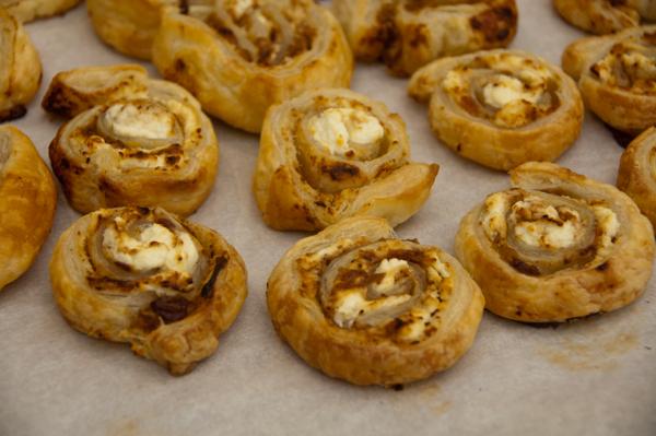 Kids bake puff pastry pinwheels on eatlivetravelwrite.com