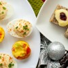 Mini frittatas, cheese-filled bread cases and devilled eggs on eatlivetravelwrite.com