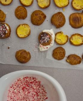 Kid-made profiteroles on eatlivetravelwrite.com