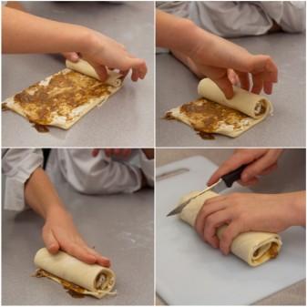 Kids making puff pastry pinwheels on eatlivetravelwrite.com