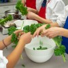 #52NewFoods kids working with kale on eatlivetravelwrite.com