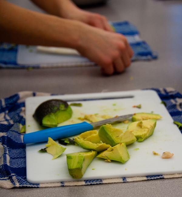 Chopping avocado on eatlivetravelwrite.com