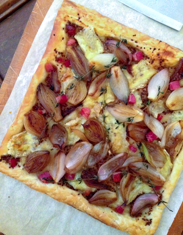 Donna Hay caramelized shallot, Brie and pancetta tart on eatlivetravelwrite.com
