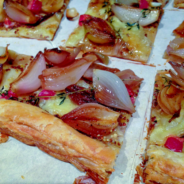 caramelized shallot, Brie and pancetta tart from Donna Hay on eatlivetravelwrite.com