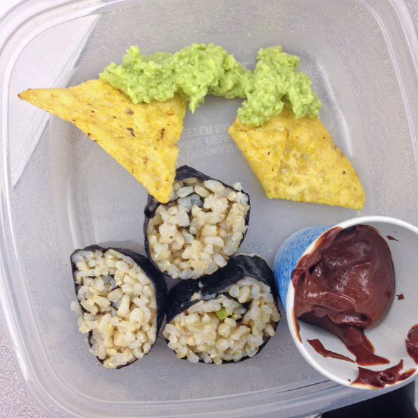 Kids make #52NewFoods guacamole avocado sushi rolls and chocolate pudding on eatlivetravelwrite.com
