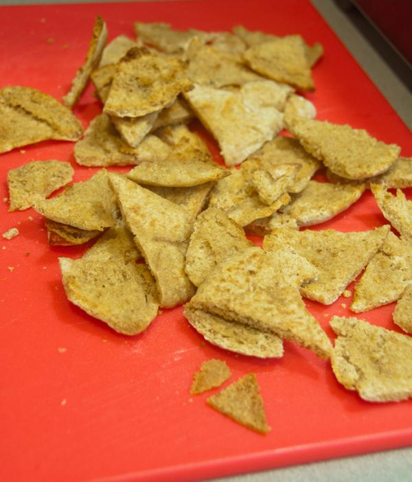 Pita chips, baked on eatlivetravelwrite.com