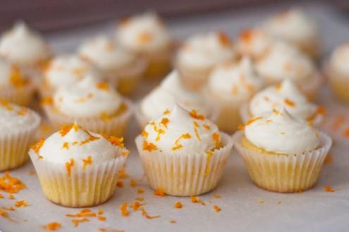 Orange almond cupcakes on eatlivetravelwrite.com