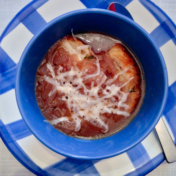 French onion soup from Gatherings on eatlivetravelwrite.com