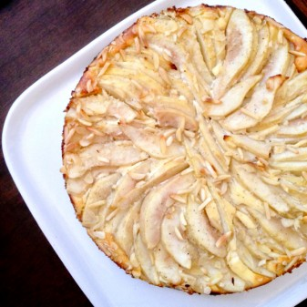 Pear and cardamon cream cheese tart from Gatherings for a baby shower on eatlivetravelwrite.com