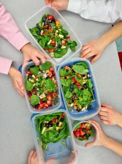 Kids colourful salads on eatlivetravelwrite.com